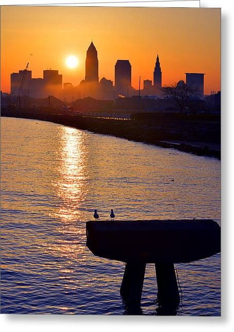 Sunrise From Edgewater Greeting Card