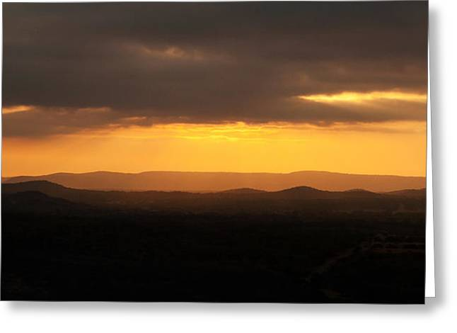 Sunrise From Enchanted Rock Greeting Card