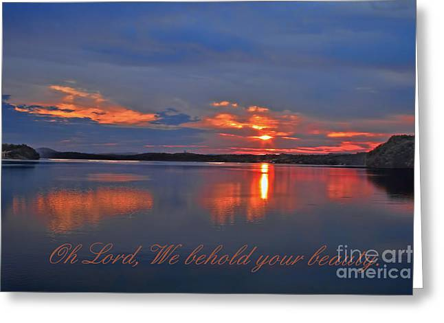 Sunrise Greeting Card by Geraldine DeBoer
