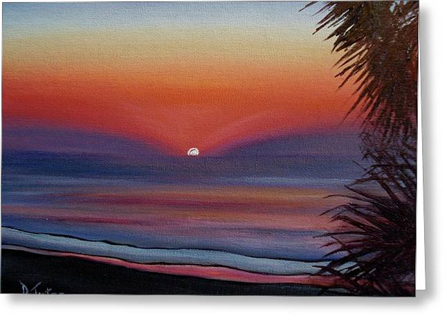Greeting Card featuring the painting Sunrise Glow by Donna Tuten