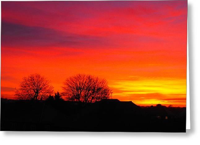 Sunrise Harrow Greeting Card