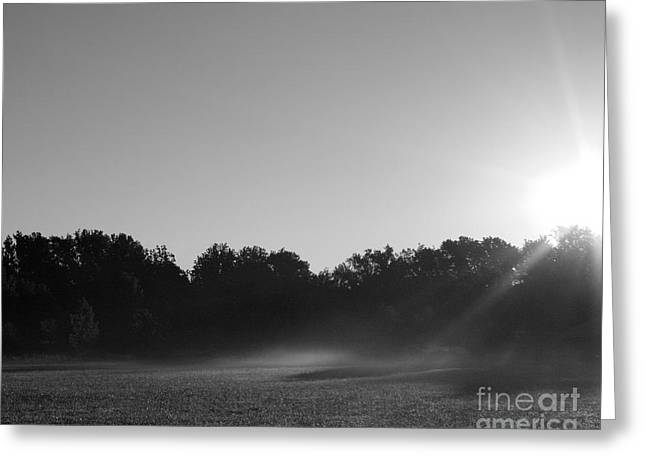 Greeting Card featuring the photograph Sunrise In Black And White by Anita Oakley