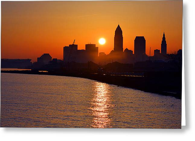 Sunrise In Cleveland Greeting Card