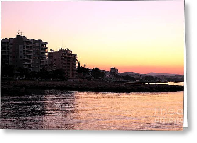 Sunrise In Cyprus Greeting Card by John Rizzuto