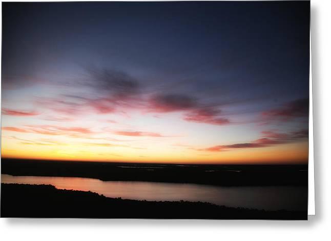 Sunrise In January Greeting Card by Carol Kinkead