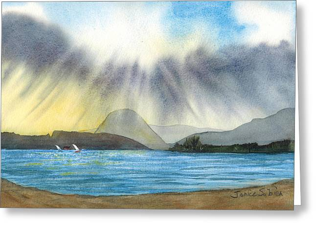 Sunrise In Los Osos Greeting Card by Janice Sobien