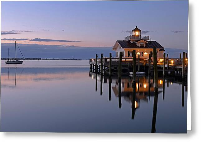 Sunrise In Manteo Greeting Card