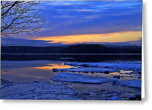 Sunrise In New Brunswick Greeting Card