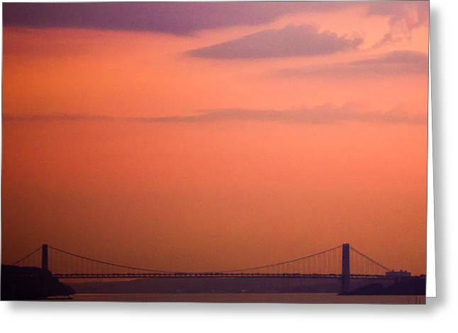 Greeting Card featuring the photograph Sunrise In New York by Sara Frank
