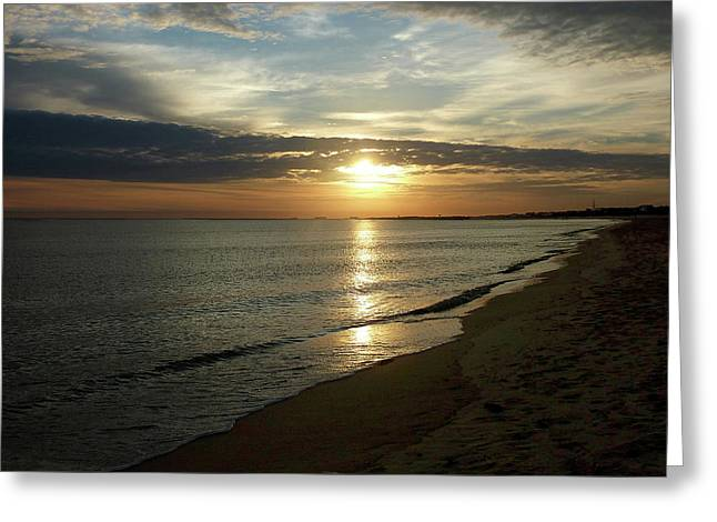 Sunrise In Norfolk Va Greeting Card by Susan Savad
