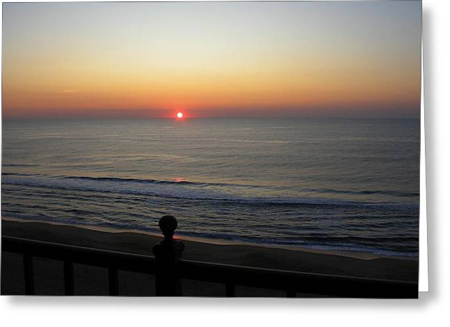 Greeting Card featuring the photograph Sunrise In Ocean City by Victoria Lakes