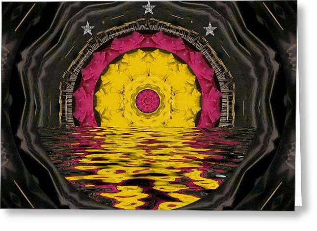 Sunrise In Paradise Pop Art Greeting Card by Pepita Selles