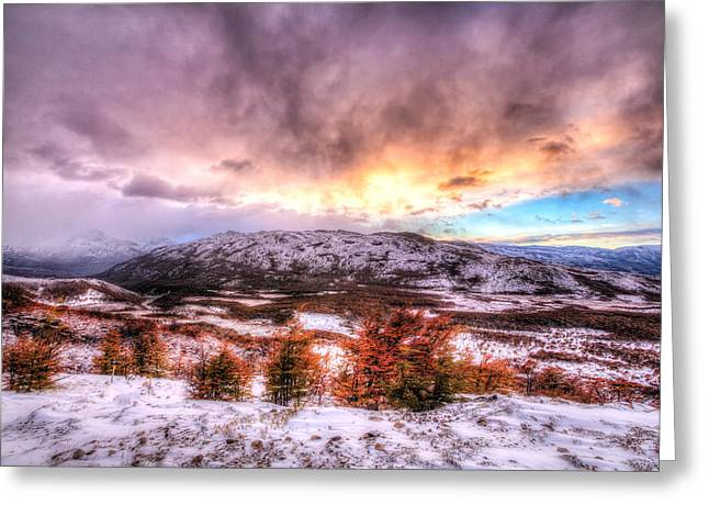 Sunrise In Patagonia Greeting Card by Roman St