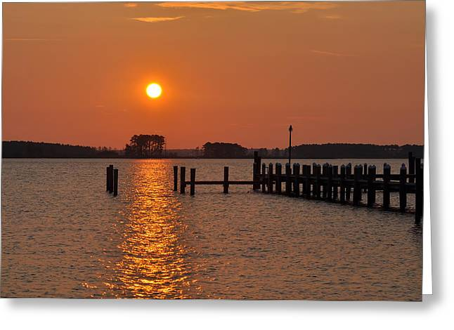 Sunrise In Piney Point Md Greeting Card by Bill Cannon