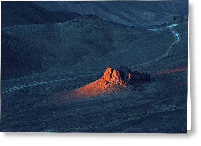 Sunrise In Saharan Mountains Greeting Card