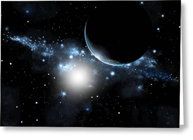 Sunrise In Space Greeting Card by Marc Ward
