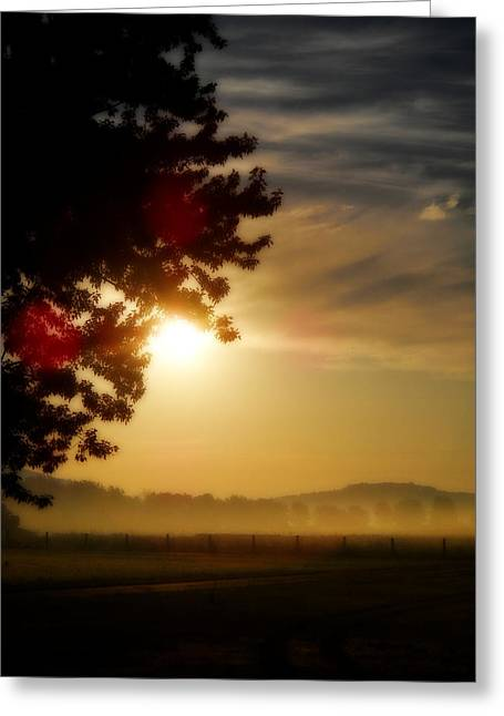 Sunrise In The Hills Greeting Card