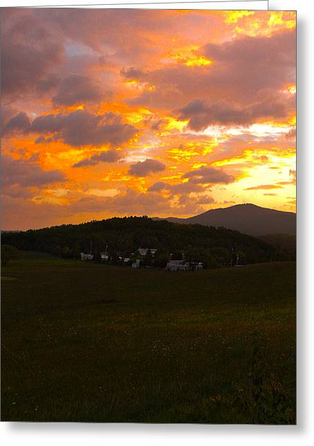 Sunrise In The Smokies Greeting Card