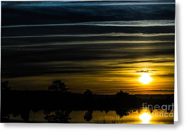 Greeting Card featuring the photograph Sunrise In Virginia by Angela DeFrias