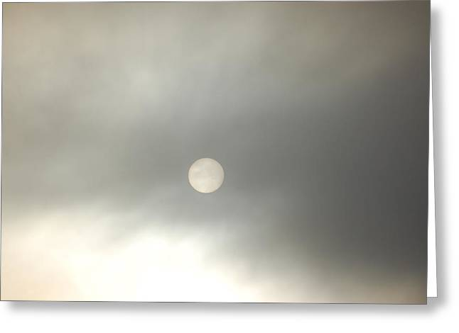 Sunrise Into Fog I Greeting Card
