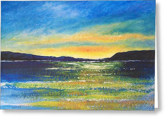 Greeting Card featuring the painting Sunrise by Jane  See