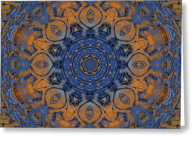Sunrise Kaleidoscope Greeting Card by Deborah Benoit
