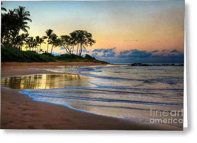 Sunrise Keawakapu Beach Greeting Card by Kelly Wade