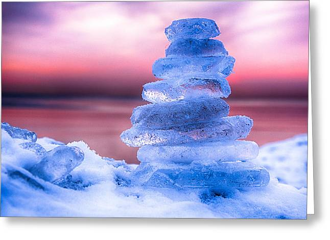 Sunrise Lake Michigan 12-19-13 1 Greeting Card