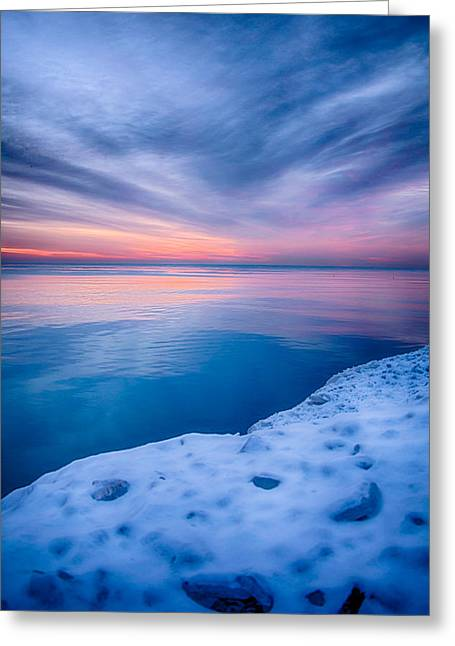 Sunrise Lake Michigan 12-19-13 2 Greeting Card