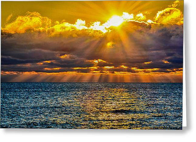 Sunrise Lake Michigan 9-29-13 Greeting Card