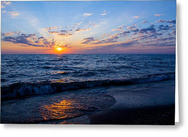 Sunrise Lake Michigan August 10th 2013 002 Greeting Card