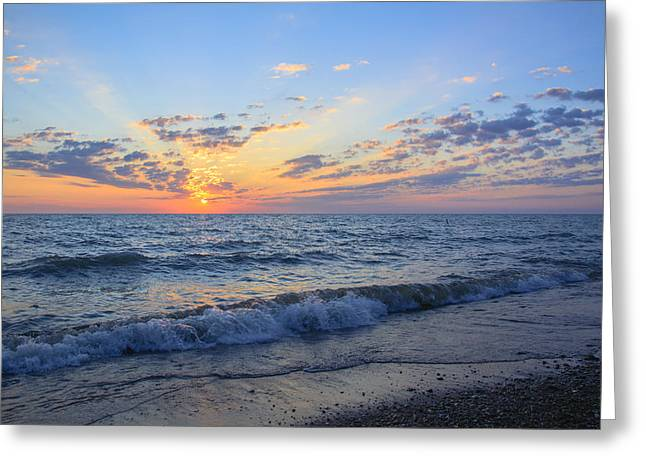 Sunrise Lake Michigan August 10th 2013 004 Greeting Card