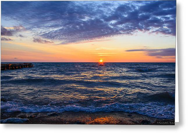 Sunrise Lake Michigan August 8th 2013 001 Greeting Card