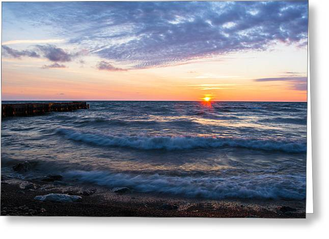 Sunrise Lake Michigan August 8th 2013 003 Greeting Card