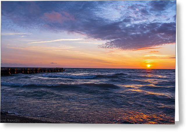 Sunrise Lake Michigan August 8th 2013 007 Greeting Card