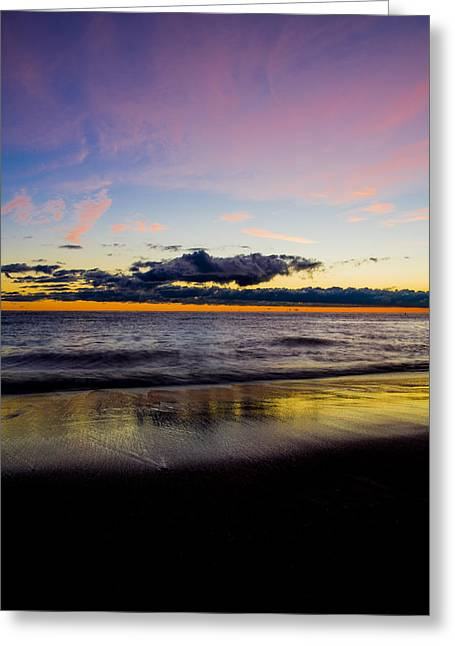 Greeting Card featuring the photograph Sunrise Lake Michigan September 14th 2013 010 by Michael  Bennett