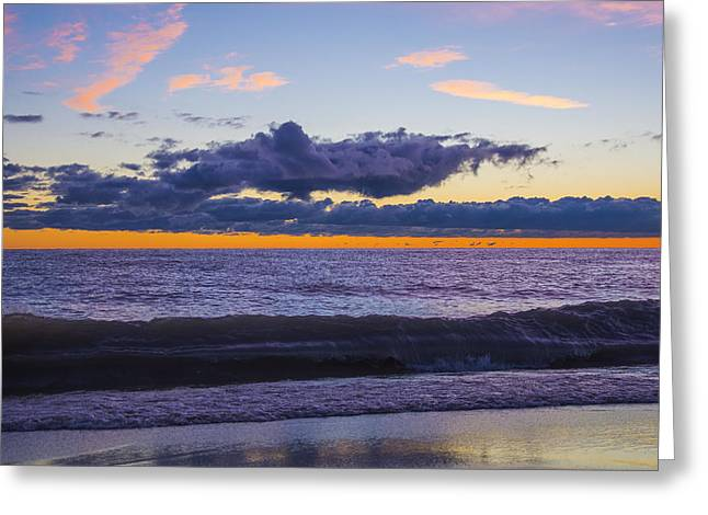 Greeting Card featuring the photograph Sunrise Lake Michigan September 14th 2013 011 by Michael  Bennett