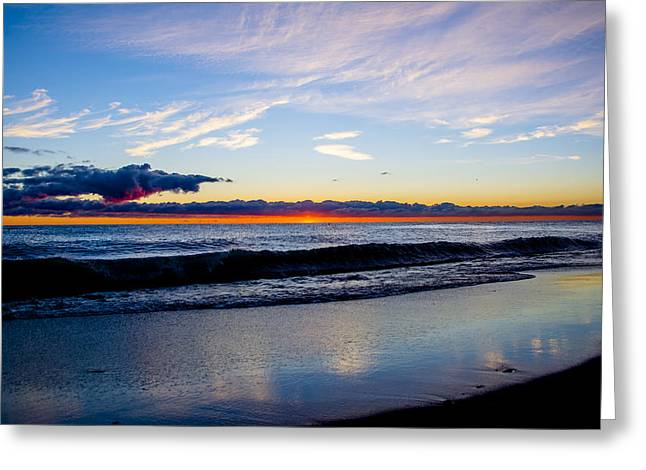 Greeting Card featuring the photograph Sunrise Lake Michigan September 14th 2013 013 by Michael  Bennett