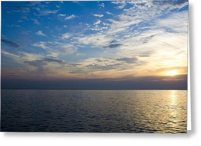 Sunrise Lake Michigan September 7th 2013 003 Greeting Card
