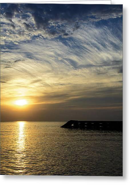 Sunrise Lake Michigan September 7th 2013 004 Greeting Card