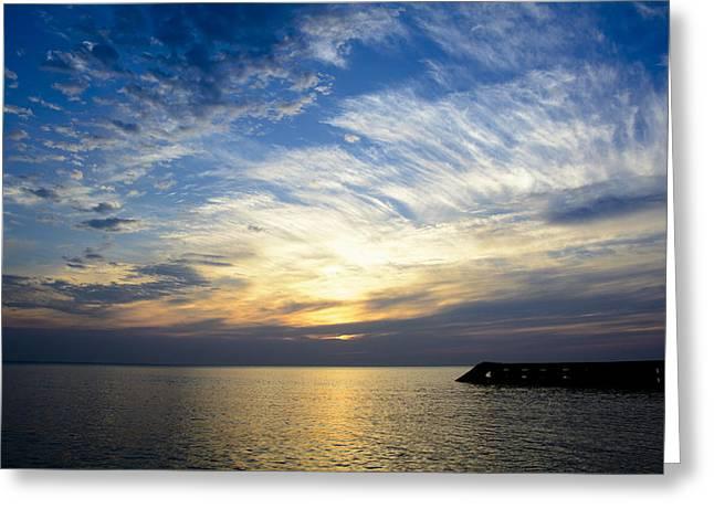 Sunrise Lake Michigan September 7th 2013 005 Greeting Card