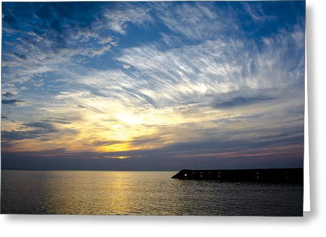 Sunrise Lake Michigan September 7th 2013 008 Greeting Card