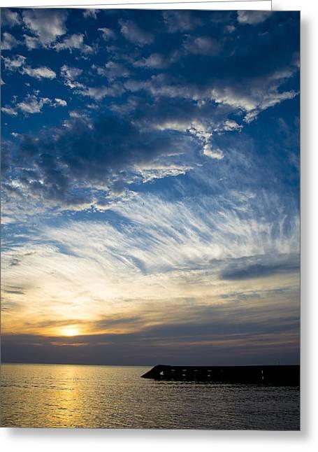 Sunrise Lake Michigan September 7th 2013 009 Greeting Card