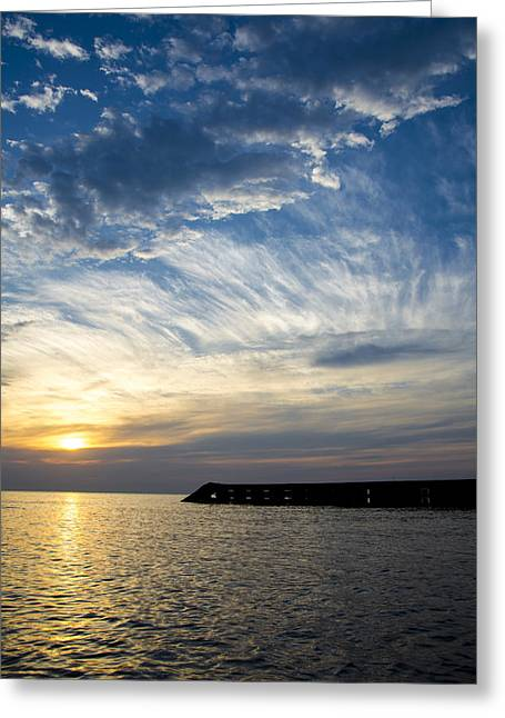 Sunrise Lake Michigan September 7th 2013  Greeting Card