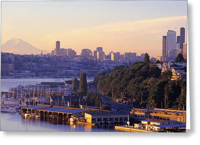 Sunrise, Lake Union, Seattle Greeting Card
