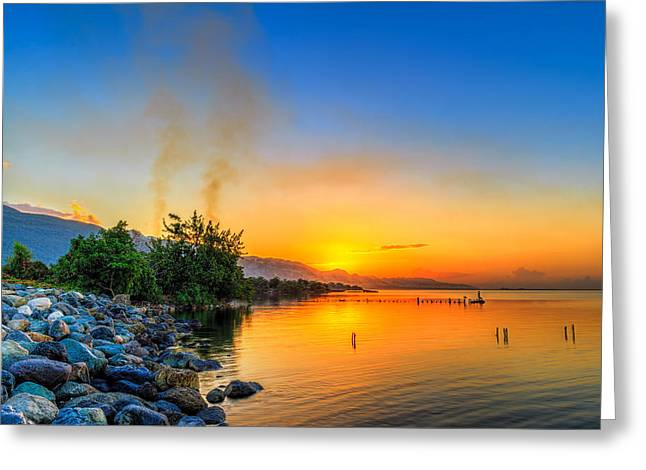 Sunrise Greeting Card by Lechmoore Simms