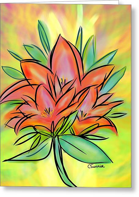 Sunrise Lily Greeting Card
