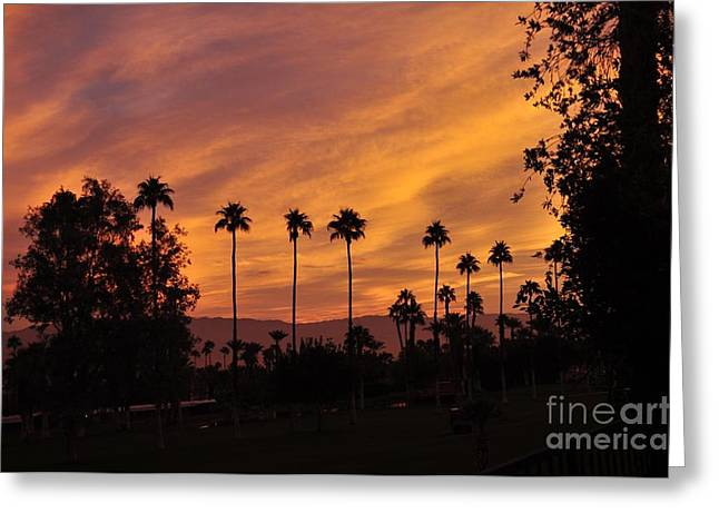 Sunrise Looking East Towards Mecca Greeting Card