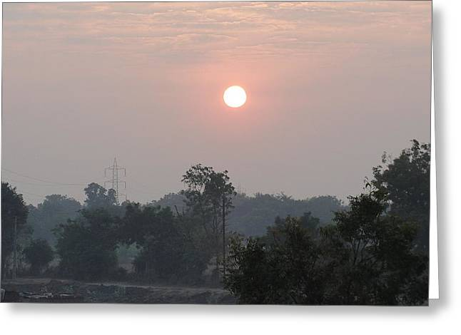 Sunrise Greeting Card by Makarand Kapare