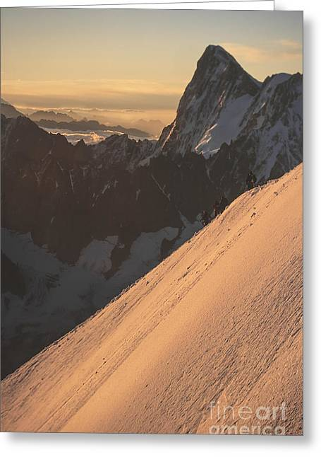 Sunrise Massif Du Mt Blanc Greeting Card by Soren Egeberg